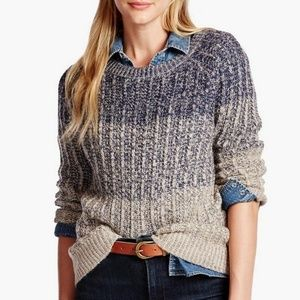 Lucky Brand Marled Ombre Pullover Sweater Size XL